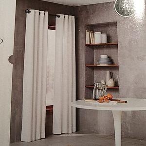 "Threshold 84"" grommet curtain panel- set of 2"